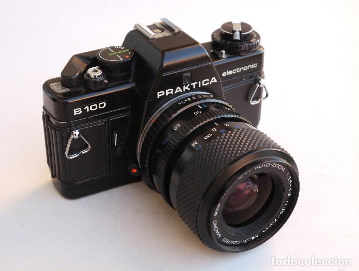 Cámara de fotos: *1983* • Pentacon Praktica B100 SLR Obj. f1.8 50mm + Obj. Macro-Zoom 35-70 mm • PROBADA / MALETÍN - Foto 6 - 95778055