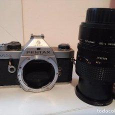 Cámara de fotos: CAMARA PENTAX MX CON OBJETIVO MINOLTA MACRO 50. Lote 98688291