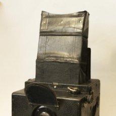 Cámara de fotos: RARA Y ESCASA HOUGHTON ENSIGN ROLL FIM REFLEX. MADERA. FUELLE. Lote 99293151