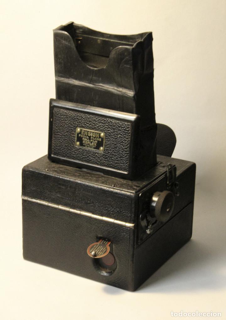Cámara de fotos: Rara y escasa Houghton Ensign Roll Fim Reflex. Madera. Fuelle - Foto 2 - 99293151
