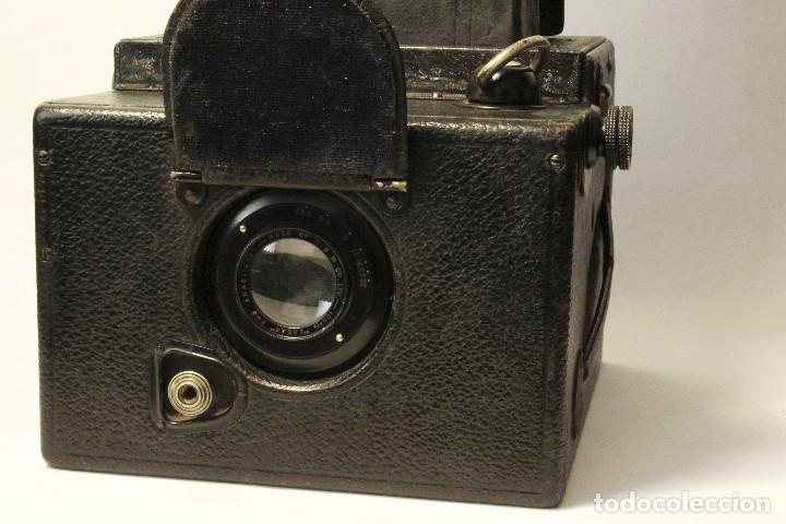 Cámara de fotos: Rara y escasa Houghton Ensign Roll Fim Reflex. Madera. Fuelle - Foto 3 - 99293151
