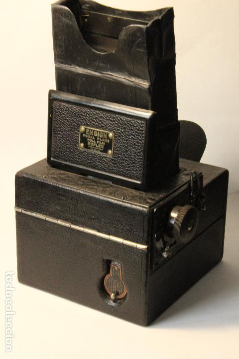 Cámara de fotos: Rara y escasa Houghton Ensign Roll Fim Reflex. Madera. Fuelle - Foto 4 - 99293151