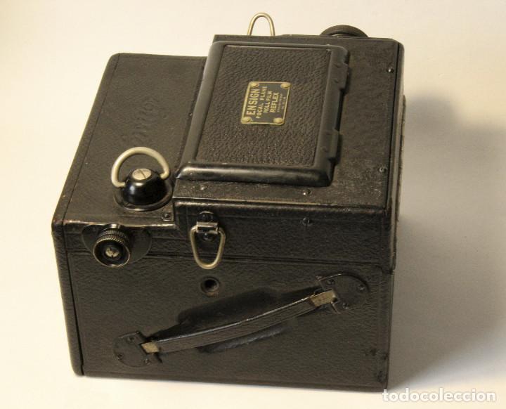 Cámara de fotos: Rara y escasa Houghton Ensign Roll Fim Reflex. Madera. Fuelle - Foto 6 - 99293151