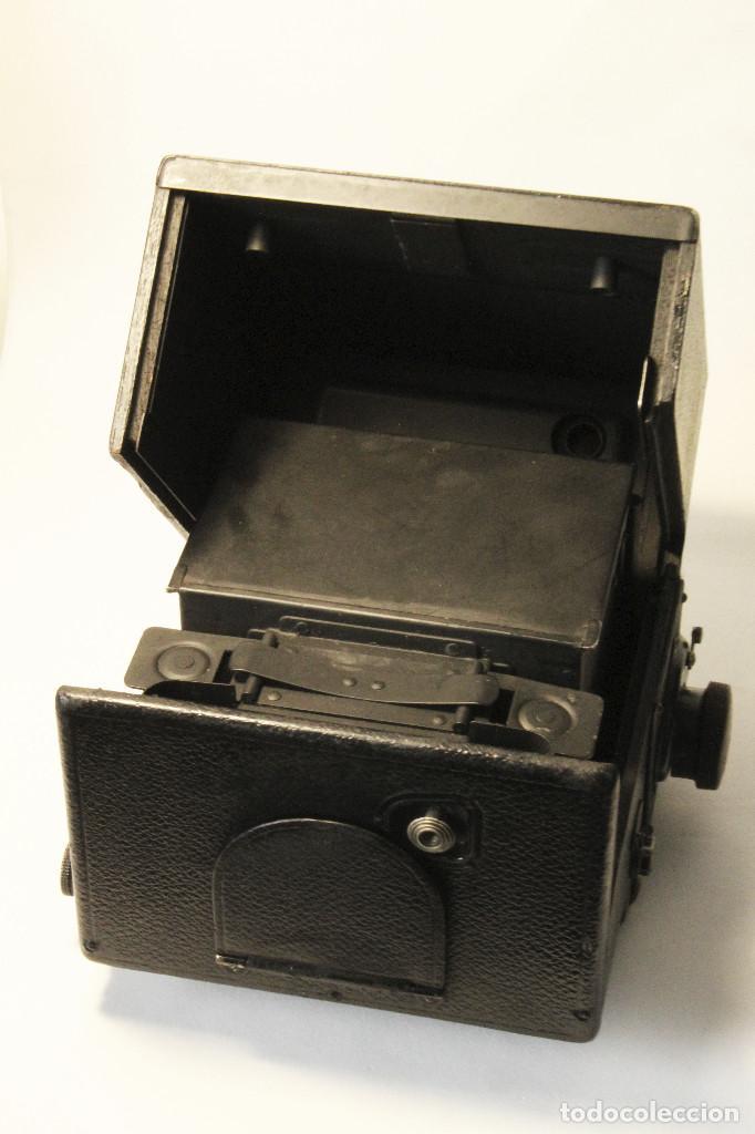 Cámara de fotos: Rara y escasa Houghton Ensign Roll Fim Reflex. Madera. Fuelle - Foto 9 - 99293151