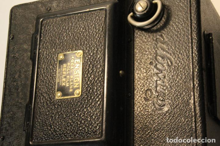 Cámara de fotos: Rara y escasa Houghton Ensign Roll Fim Reflex. Madera. Fuelle - Foto 13 - 99293151
