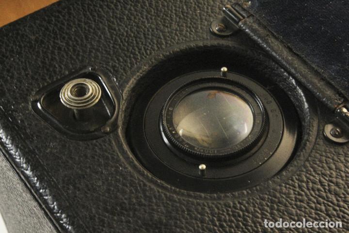 Cámara de fotos: Rara y escasa Houghton Ensign Roll Fim Reflex. Madera. Fuelle - Foto 17 - 99293151