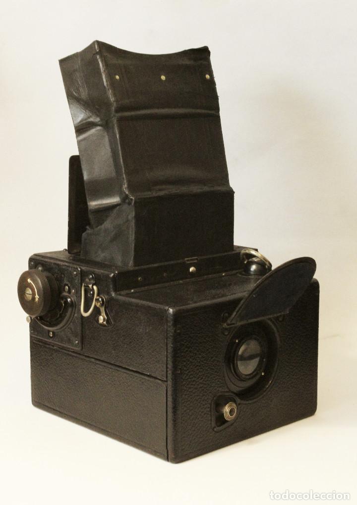 Cámara de fotos: Rara y escasa Houghton Ensign Roll Fim Reflex. Madera. Fuelle - Foto 23 - 99293151