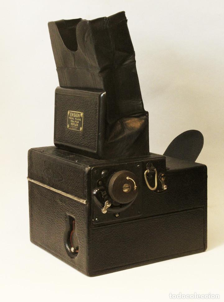 Cámara de fotos: Rara y escasa Houghton Ensign Roll Fim Reflex. Madera. Fuelle - Foto 25 - 99293151