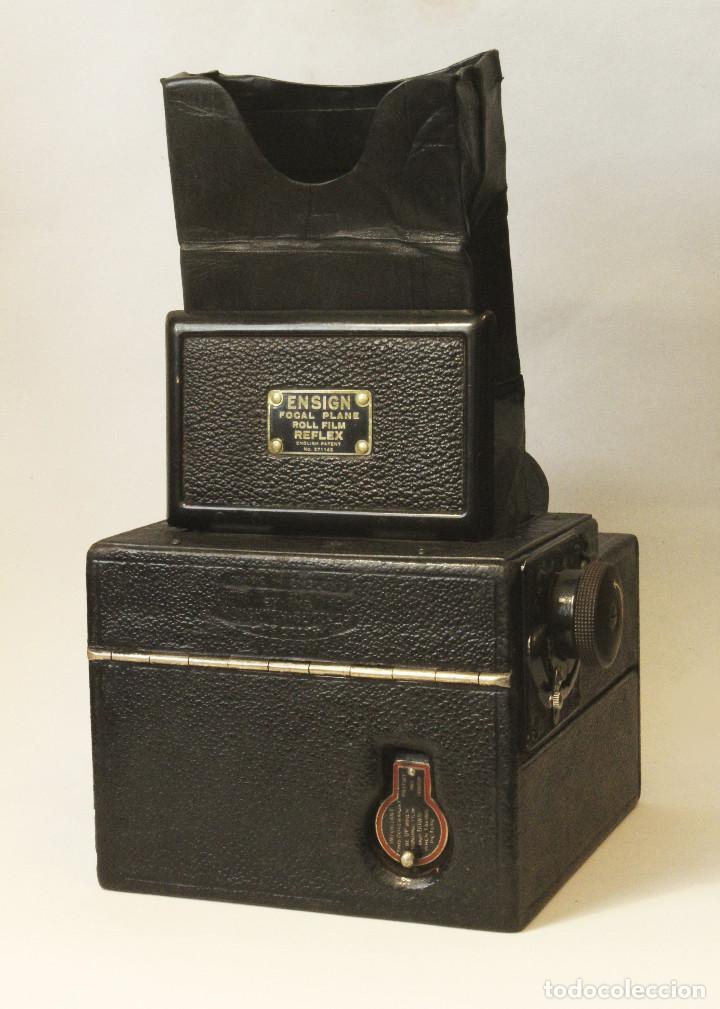 Cámara de fotos: Rara y escasa Houghton Ensign Roll Fim Reflex. Madera. Fuelle - Foto 26 - 99293151