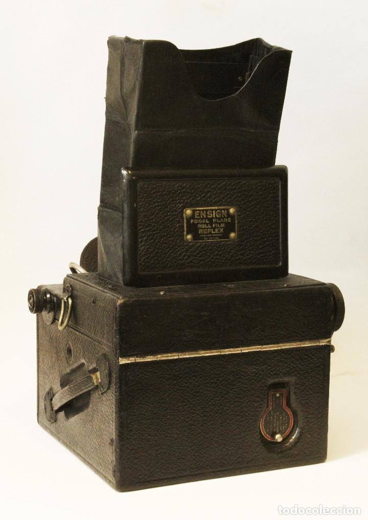 Cámara de fotos: Rara y escasa Houghton Ensign Roll Fim Reflex. Madera. Fuelle - Foto 27 - 99293151