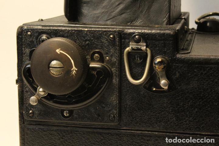 Cámara de fotos: Rara y escasa Houghton Ensign Roll Fim Reflex. Madera. Fuelle - Foto 30 - 99293151