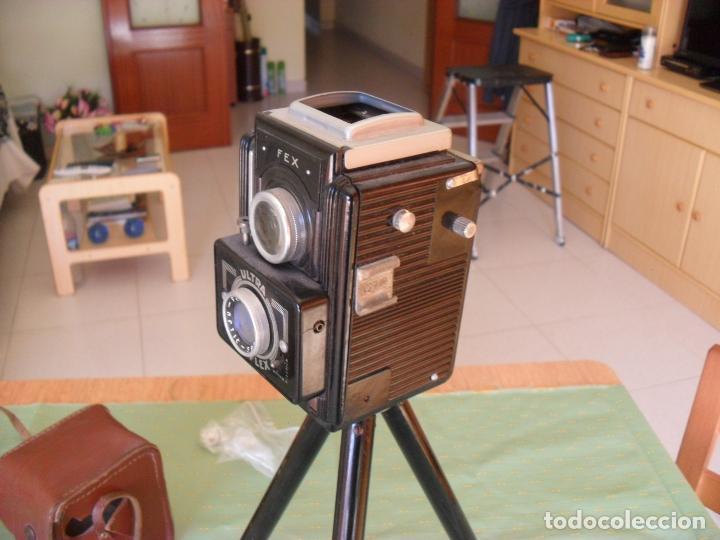 Cámara de fotos: antigua camara fotos fex,con tripode y funda - Foto 2 - 99729879