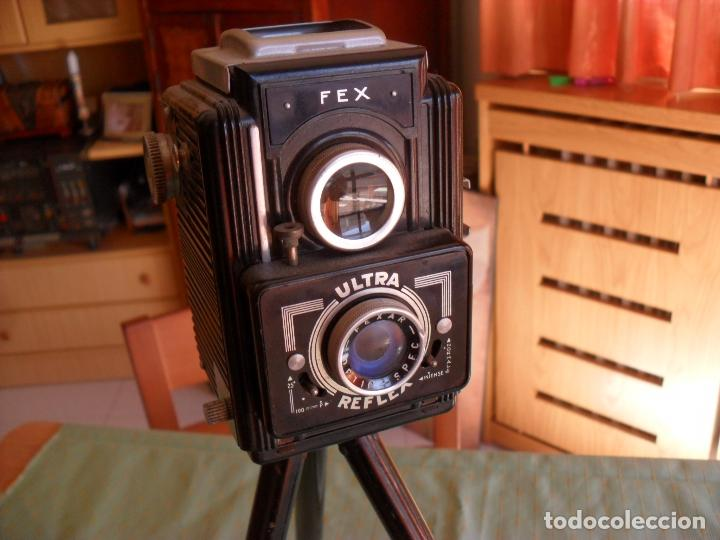 Cámara de fotos: antigua camara fotos fex,con tripode y funda - Foto 4 - 99729879