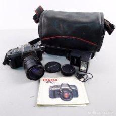 Cámara de fotos: PENTAX P30T 200M ZOOM 28-80MM 3.5 CON MALETA, MANUAL Y FLASH. Lote 102981619