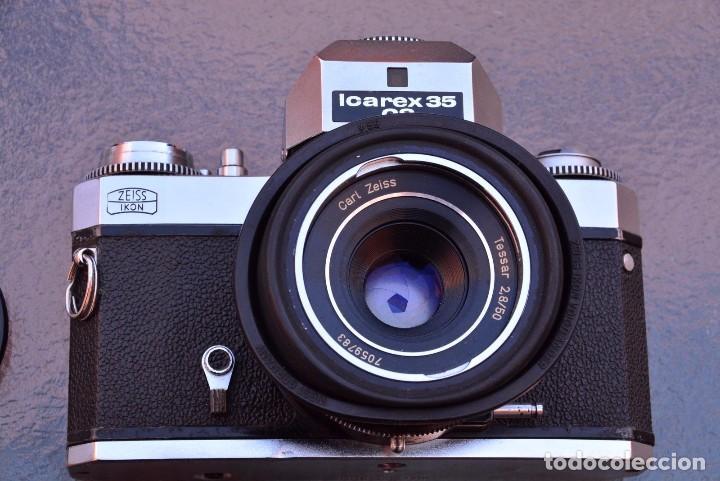 ZEISS-IKON-ICAREX-35CS-SLR-WITH-CARL-ZEISS-TESSAR-50-2-8 (Cámaras Fotográficas - Réflex (no autofoco))