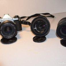 Cámara de fotos: PENTAX ME SUPER CON 3 OBJETIVOS. Lote 106174135