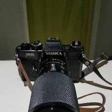 Cámara de fotos: CAMARA VINTAGE YASHICA-FR Y OBJETIVO 75-250MM. Lote 107416007