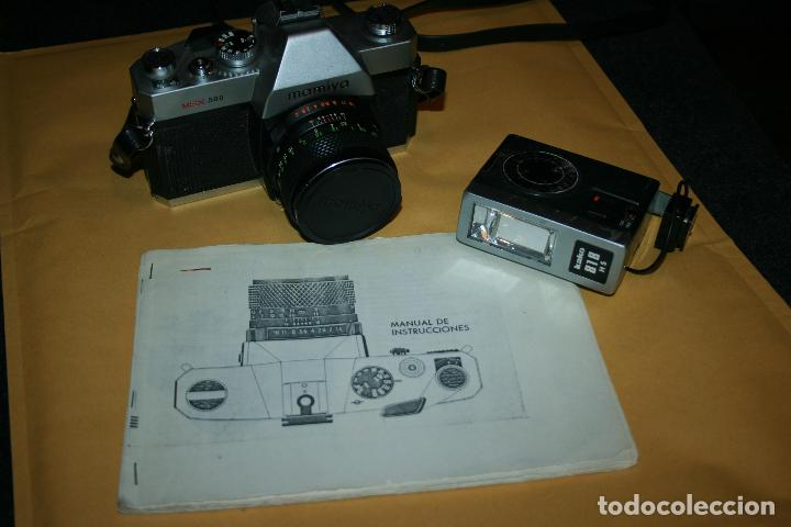 CAMARA MAMIYA MSX 500 Y FLASH MARCA KAKO 818 . BIEN CONSERVADA. INSTRUCCIONES (Cámaras Fotográficas - Réflex (no autofoco))