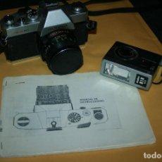 Cámara de fotos: CAMARA MAMIYA MSX 500 Y FLASH MARCA KAKO 818 . BIEN CONSERVADA. INSTRUCCIONES. Lote 109255459