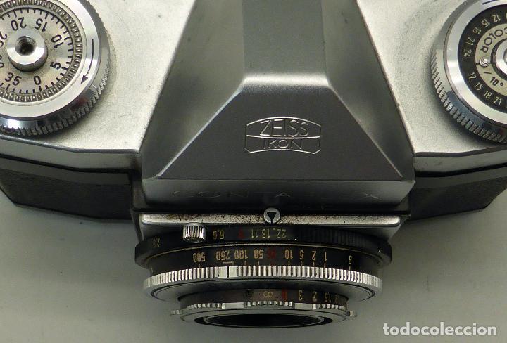 Cámara de fotos: Cámara Zeiss Ikon Tessar Opton 1:28 F 45 mm con su funda - Foto 6 - 112892559