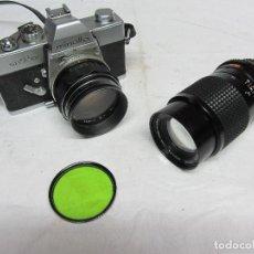 Cámara de fotos: CAMARA FOTOGRAFICA MINOLTA SRT 101 Y TELEOBJETIVO DE 135 MM. Lote 113848267