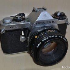 Cámara de fotos: CÁMARA RÉFLEX PENTAX ME CON OBJETIVO SMC PENTAX-A DE 50MM. Lote 114867611