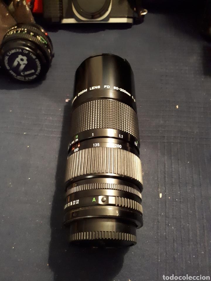 Cámara de fotos: Lote cámara CANON REFLEX AL - 1 OBJETIVO 80 - 200 mm 1:4 OBJETIVO 50 mm FLASH CAÑON 166A - Foto 4 - 116232523