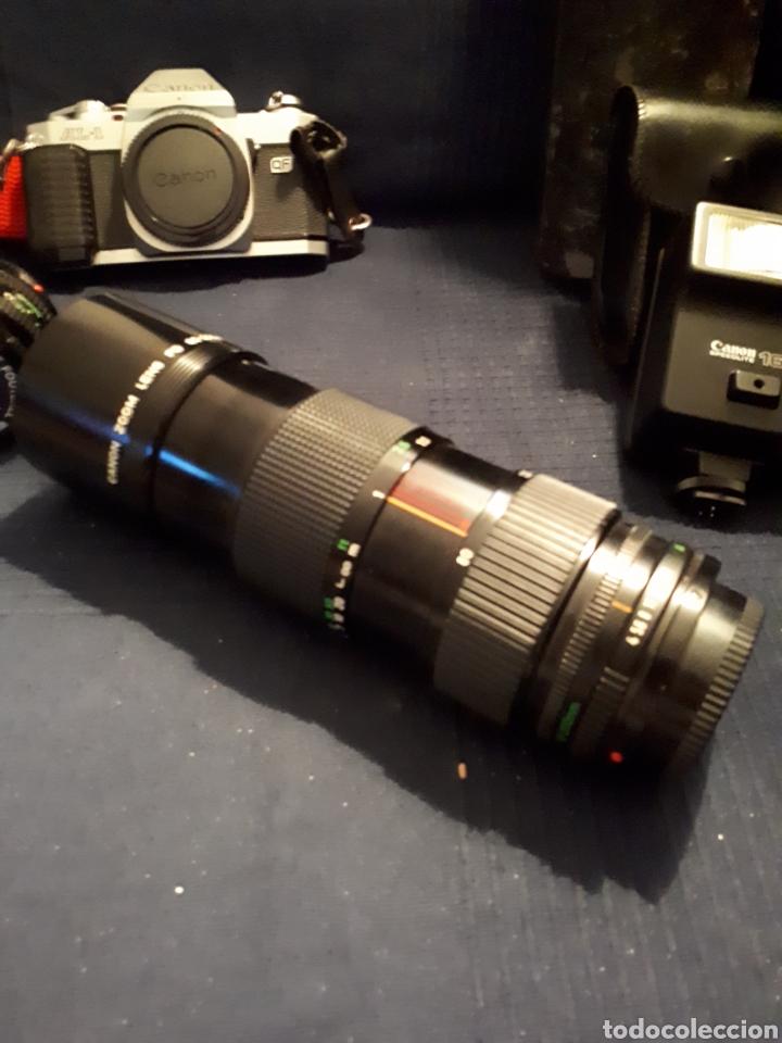 Cámara de fotos: Lote cámara CANON REFLEX AL - 1 OBJETIVO 80 - 200 mm 1:4 OBJETIVO 50 mm FLASH CAÑON 166A - Foto 5 - 116232523