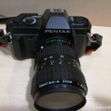 Cámara de fotos: CAMARA - PENTAX P30N + PENTAX-A ZOOM 1:3.5-4.5 28-80 + FILTRO HOYA 58MM SKYLIGHT + MANUAL (INGLES). Lote 144126598