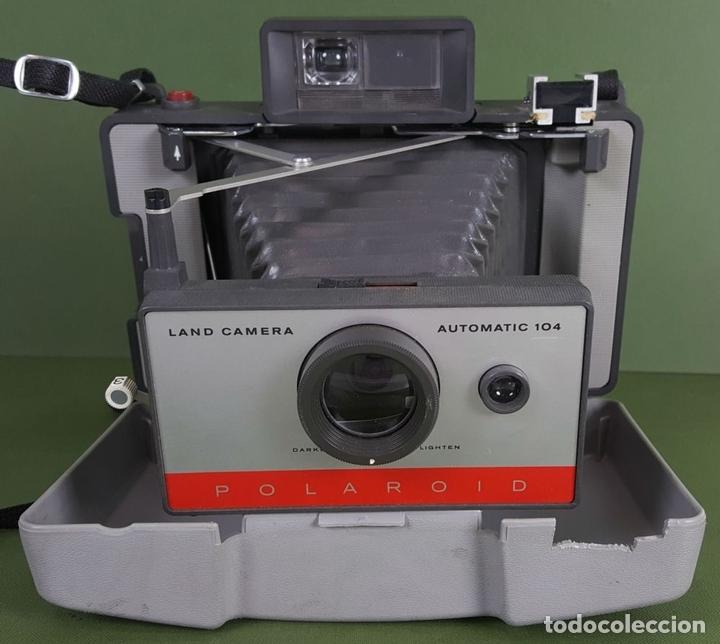 Cámara de fotos: CÁMARA FOTOGRÁFICA POLAROID AUTOMATIC104. LAND CAMERA. USA. 1965. - Foto 5 - 116595087