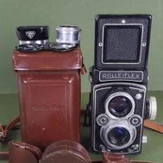 Cámara de fotos: CAMARA ROLLEIFLEX AUTOMAT. K4/B 1:3.5 75 MM. LENTES CARL ZEISS TESSAR. AÑOS 50.. Lote 120501063