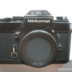 Cámara de fotos: CUERPO NEGRO NIKKORMAT FUNCIONA. Lote 128610275