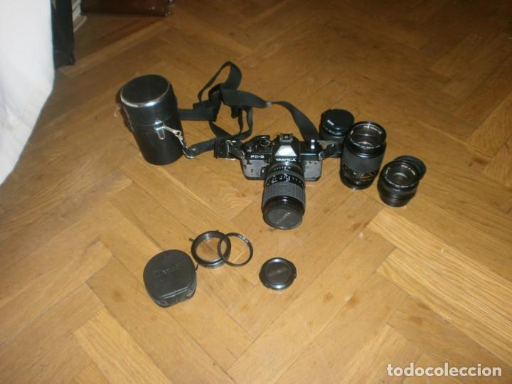 CÁMARA FOTOS YASHICA FX 3 CON 4 OBJETIVOS SIGMA ZOOM 70 MM-DSB 135 MM-DSB 28 MM -ML 50 MM-FILTROS (Cámaras Fotográficas - Réflex (no autofoco))