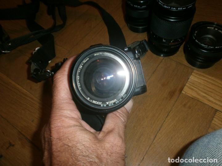 Cámara de fotos: CÁMARA FOTOS YASHICA FX 3 CON 4 OBJETIVOS SIGMA ZOOM 70 MM-DSB 135 MM-DSB 28 MM -ML 50 MM-FILTROS - Foto 6 - 132692578