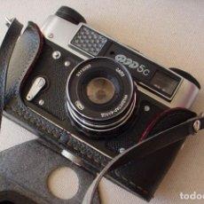 Cámara de fotos: CAMARA RUSA FED 5C EN ESTUCHE ORIGINAL. Lote 135480830