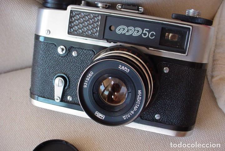 Cámara de fotos: Camara rusa Fed 5C en estuche original - Foto 4 - 135480830