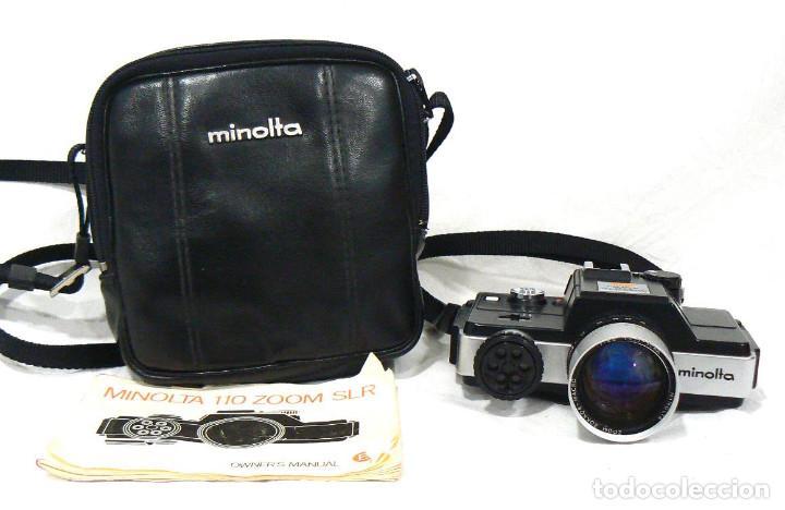 ANTIGUA CÁMARA FOTOGRÁFICA MINOLTA 110 ZOOM SLR. LA PRIMERA CÁMARA SLR REFLEX DE 110 (Cámaras Fotográficas - Réflex (no autofoco))