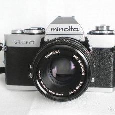 Cámara de fotos: CÁMARA MINOLTA XD5 + OBJETIVO MINOLTA MD ROKKOR 50MM 1:1.7 LENS - MADE IN JAPAN. Lote 143123374