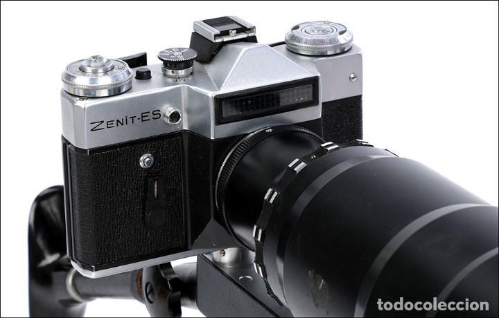 Cámara de fotos: Antigua Cámara Fotográfica - Fusil Zenit Photosniper para Telefoto. URSS, 1980 - Foto 20 - 144370358