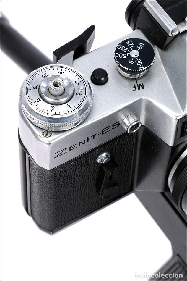 Cámara de fotos: Antigua Cámara Fotográfica - Fusil Zenit Photosniper para Telefoto. URSS, 1980 - Foto 22 - 144370358