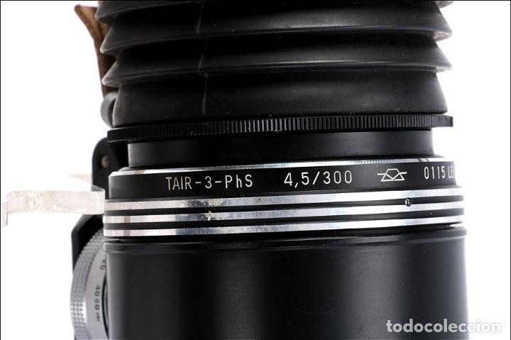 Cámara de fotos: Antigua Cámara Fotográfica - Fusil Zenit Photosniper para Telefoto. URSS, 1980 - Foto 24 - 144370358