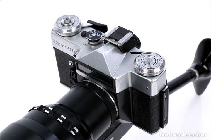 Cámara de fotos: Antigua Cámara Fotográfica - Fusil Zenit Photosniper para Telefoto. URSS, 1980 - Foto 29 - 144370358