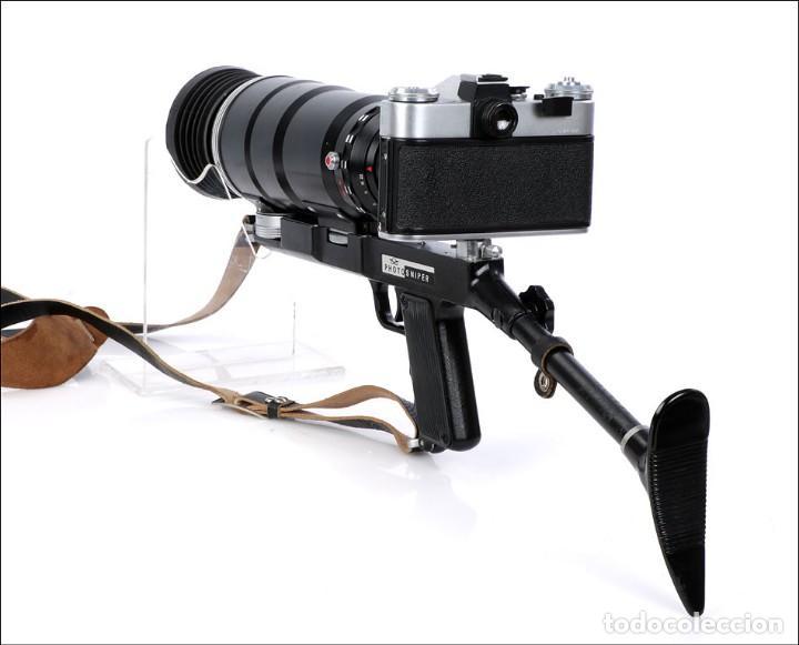Cámara de fotos: Antigua Cámara Fotográfica - Fusil Zenit Photosniper para Telefoto. URSS, 1980 - Foto 32 - 144370358
