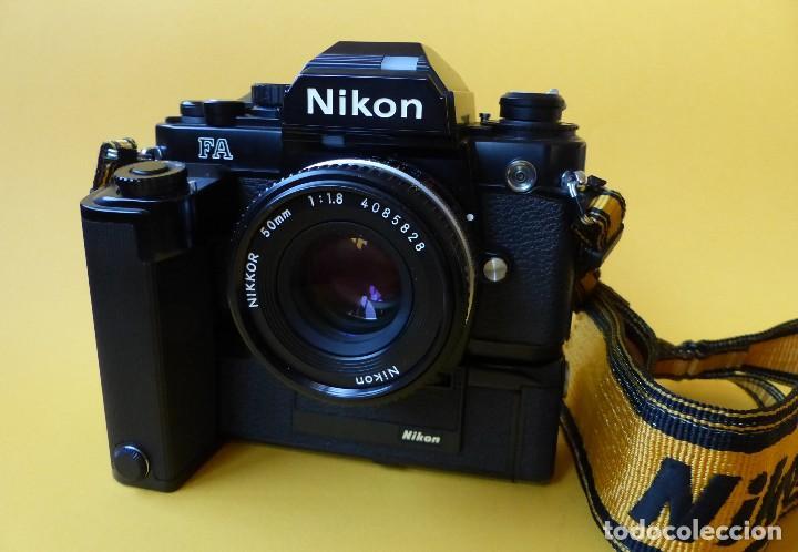 Cámara de fotos: CAMARA NIKON FA + NIKKOR 50 mm 1.8 + NIKKOR 28 mm + MOTOR + RESPALDO + correa Nikon - Foto 2 - 146175686