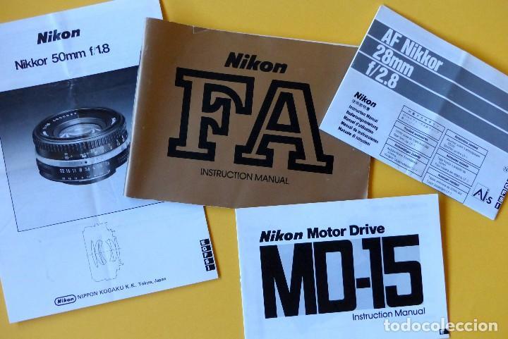 Cámara de fotos: CAMARA NIKON FA + NIKKOR 50 mm 1.8 + NIKKOR 28 mm + MOTOR + RESPALDO + correa Nikon - Foto 3 - 146175686