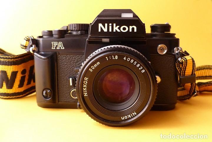 Cámara de fotos: CAMARA NIKON FA + NIKKOR 50 mm 1.8 + NIKKOR 28 mm + MOTOR + RESPALDO + correa Nikon - Foto 4 - 146175686