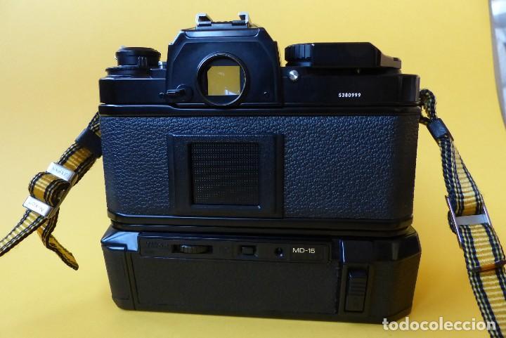 Cámara de fotos: CAMARA NIKON FA + NIKKOR 50 mm 1.8 + NIKKOR 28 mm + MOTOR + RESPALDO + correa Nikon - Foto 8 - 146175686