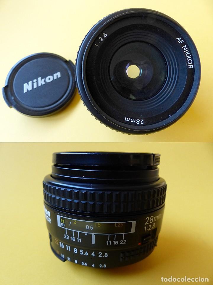 Cámara de fotos: CAMARA NIKON FA + NIKKOR 50 mm 1.8 + NIKKOR 28 mm + MOTOR + RESPALDO + correa Nikon - Foto 12 - 146175686