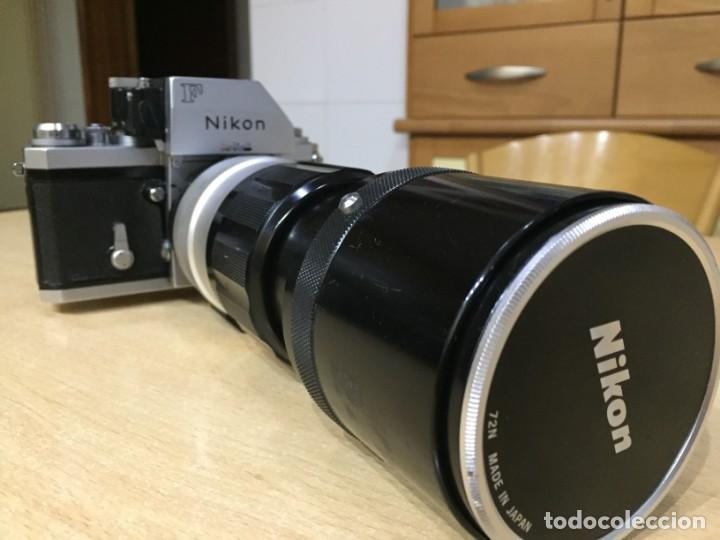 NIKON F CON OBJETIVO NIKON 300MM 4.5 (Cámaras Fotográficas - Réflex (no autofoco))