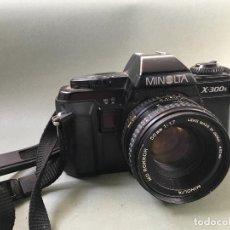 Cámara de fotos: EXCELENTE CÁMARA ANALÓGICA MINOLTA X-300S, CON OBJETIVO MINOLTA MD ROKKOR 50 MM. 1:1,7. Lote 146977514
